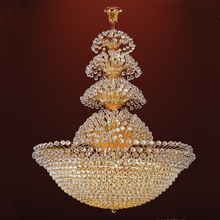 Large indian ornament crystal chandelier