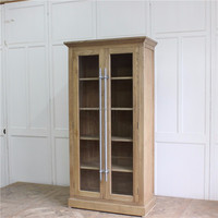 antique furniture living room wooden glass display cabinet