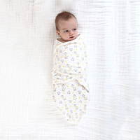 Giraffes and elephants pattern hot selling unisex baby swaddle wrap