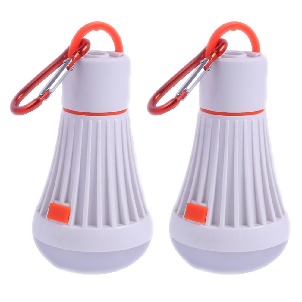 Camping Lantern ,2pcs Set Flashlight Portable Bulb with Hook Led Camping Lantern Rechargeable Battery Outdoor and Indoor Portable LED Tent Light for Hiking Camping