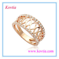 Rose gold diamond ring engraved tattoos design ring wedding bridal led ring