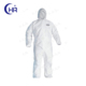 microporous waterproof white color disposable PP nonwoven coverall for oil and gas