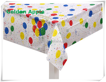 Disposable PEVA plastic party table cover  sc 1 st  Changzhou Golden Apple Imp. \u0026 Exp. Co. Ltd. - Alibaba & Disposable PEVA plastic party table cover View peva plastic table ...