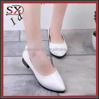 34ae3040 Pu de cuero casual zapatos planos en blanco muñeca zapatos para mujeres al por  mayor arco