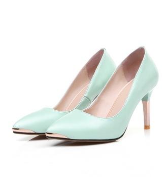 2018 новая стильная модная кожаная пикантная Летняя обувь женская обувь на  высоком каблуке f0edb3f5da8
