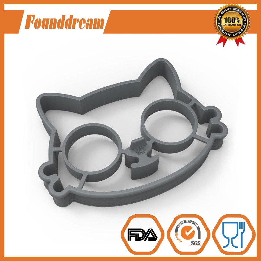 Kitty Shape Silicone Fried Egg Maker Omelette Mould Egg Rools