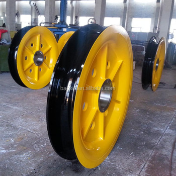 Ring Forging Wire Rope Pulley For Crane - Buy Pulley,Wire Rope ...