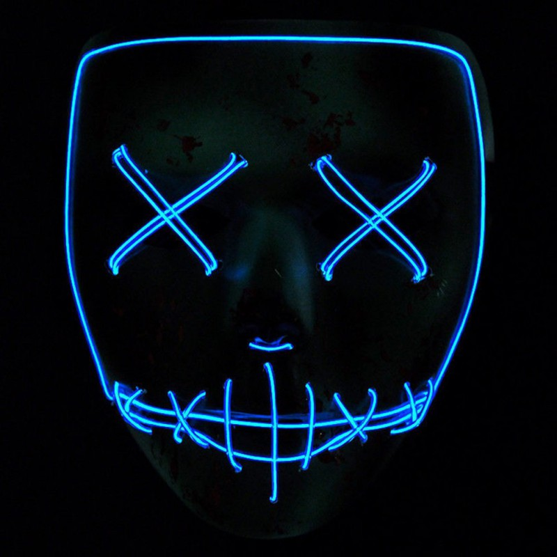 Boys Costume Accessories Ropalia Dropshipping El Wire Mask Light Up Neon Skull Led Mask For Halloween Party 2018 Theme Cosplay Masks Ship From Us