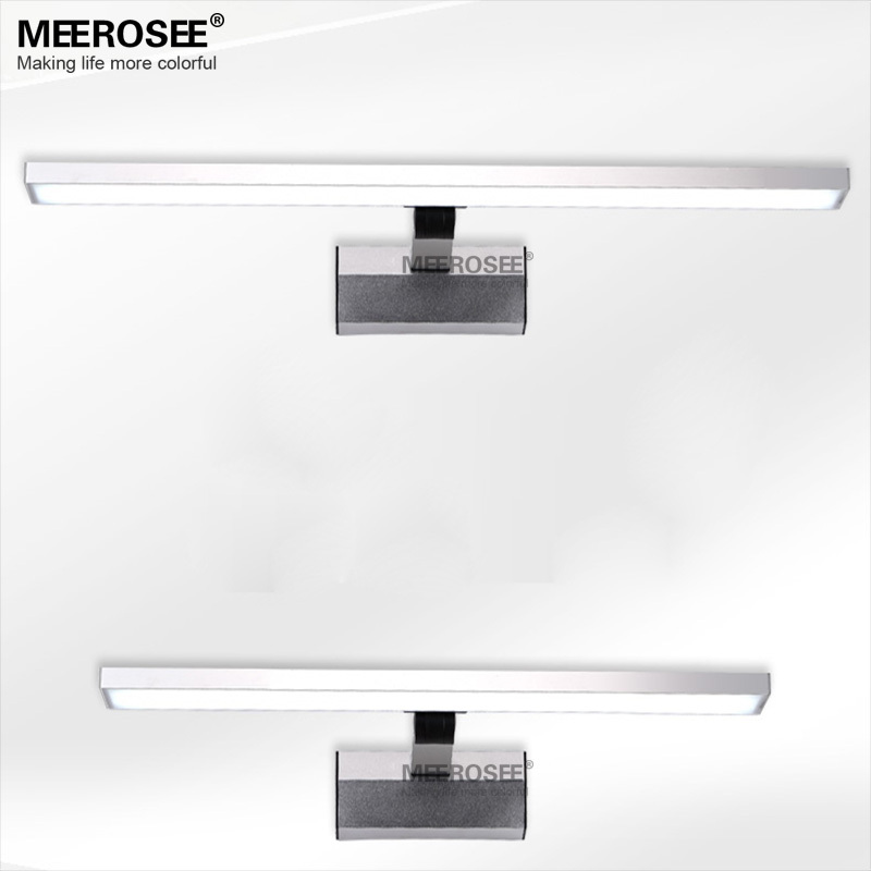 Contemporary Led Mirror Light Behind Bathroom Mirror And Make-up ...