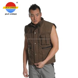 Winter Thermal Quilted Waistcoat Insulated Vest with Multi Pockets