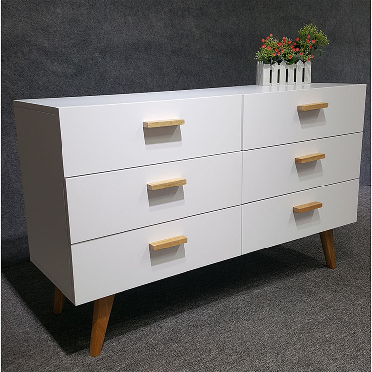 design furniture cheap set white modern bedroom chest of drawers with 6 layers drawers