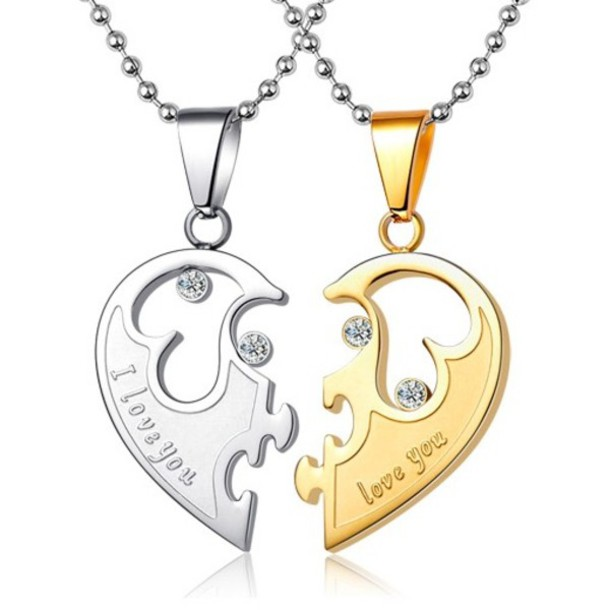 f8fd716d9b fabulous couples gifts customized love names half heart necklaces buy love  names half heart couples gifts with his and hers necklaces engravable