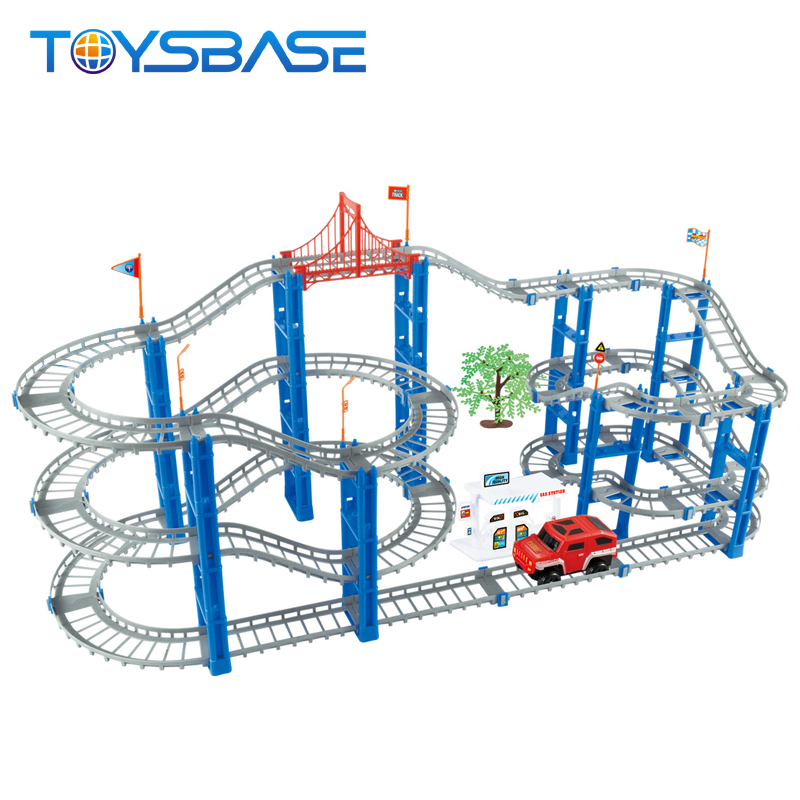 Kids 130PCS Rail Cars Assembled Electric Toys Indoor Rc Race Track