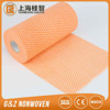 Non-Woven Fabric Perforated Wiper&Roll Viscose Polyester Wave Line Wiping Rags Kitchen Cleaning Cloth