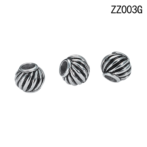 Fashion jewellery stainless steel silver antique chinese lantern style dangle beads for bracelet