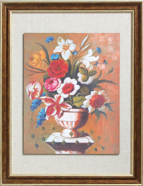 Hot Antique Flower Oil Painting Of Red Rose Painting