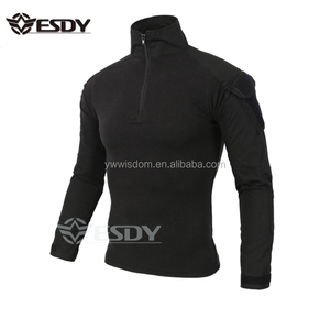 ESDY Black Outdoor Sport Tactical Uniform Long Sleeve Shirt