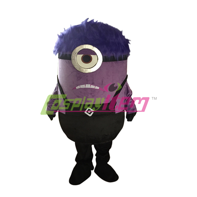 Purple Angry Despicable Me Minion Mascot Costume Adult ...