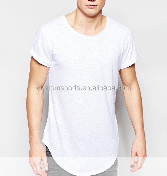 custom long line white t shirt , tux tail tee,long drop tail tshirts for woman and man