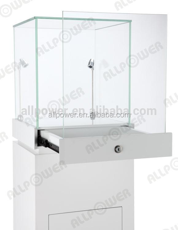 Latest Luxury Glass Jewellery Display Stand Cabinet With Rotatable ...