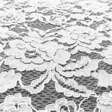 2018 New Design African Cord White 3D Embroidery Lace Fabrics For Dress