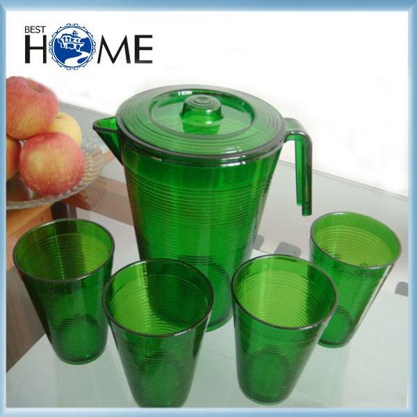 hot vente alimentaire safery vert refroidisseur cruche pichet d 39 eau en plastique cruches. Black Bedroom Furniture Sets. Home Design Ideas