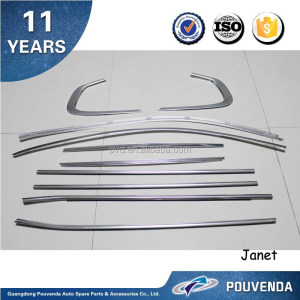 Car Accessories For BMW X6 E71 08+ Taiwan Type Window Trim 10pcs/set From Pouvenda