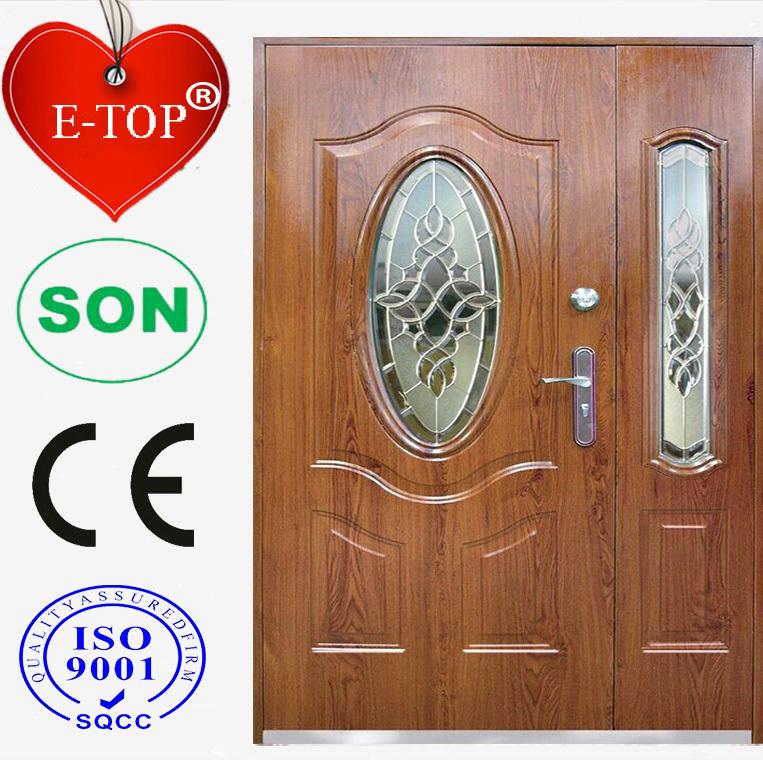 E top puerta vidrio insertar puerta de metal acabado de for Puertas de metal con vidrio