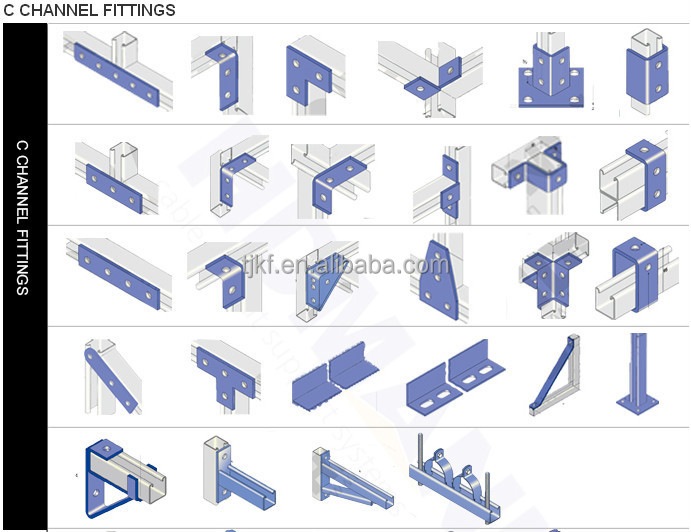 Different Kind Of Unistrut Steel Channel Accessories Buy
