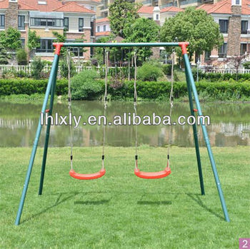 2 Person Two Seater Double Seat Patio Garden Swing Set For Kids Swings