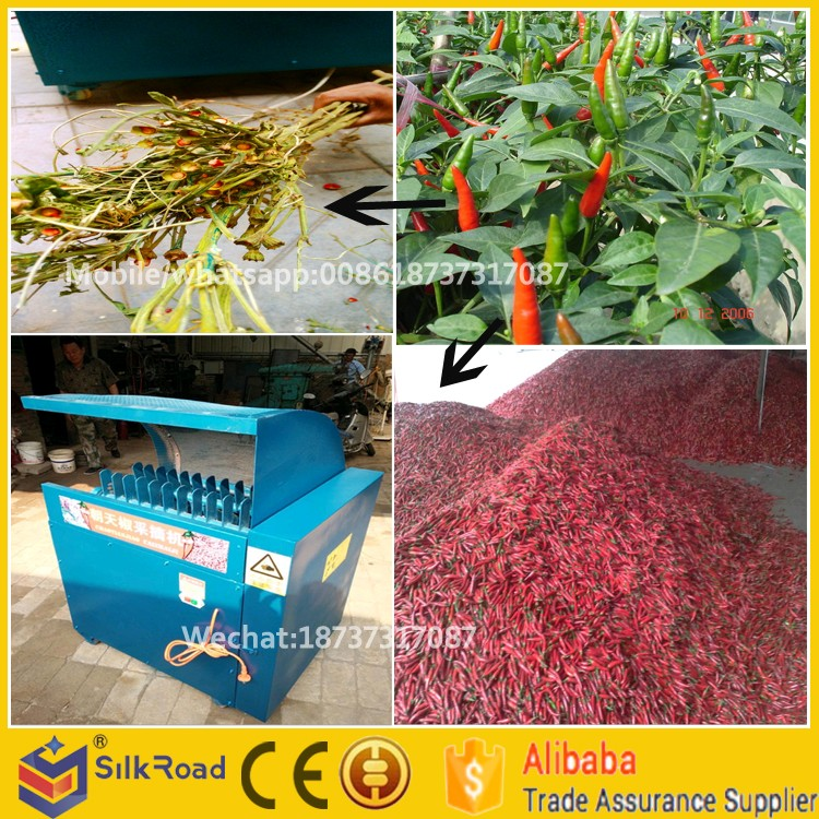 500kg/h capacity small farm machinery chili/pepper thresher
