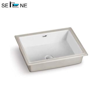 Rectangular Under Counter Mounting Ceramic Wash Sink Basin