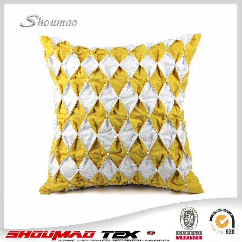 ... YELLOW CUSHION COVER ...
