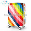 ABS PC material matching color spare parts 3 pieces zip travel trolley luggage bag