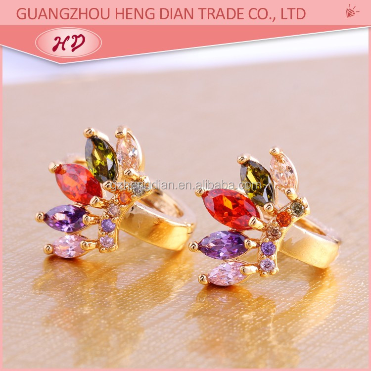 14k 18k dubai gold new fashion earring jewelry designs wholesale ...