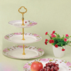 Promotional three layer fruit plate/cake plate/dessert plate