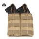 Military Tactical Magazine Pouch 5.56 M4/M16 Holds Holster Double Pistol Stacker Open Top Molle Mag Pouch with Bungee System