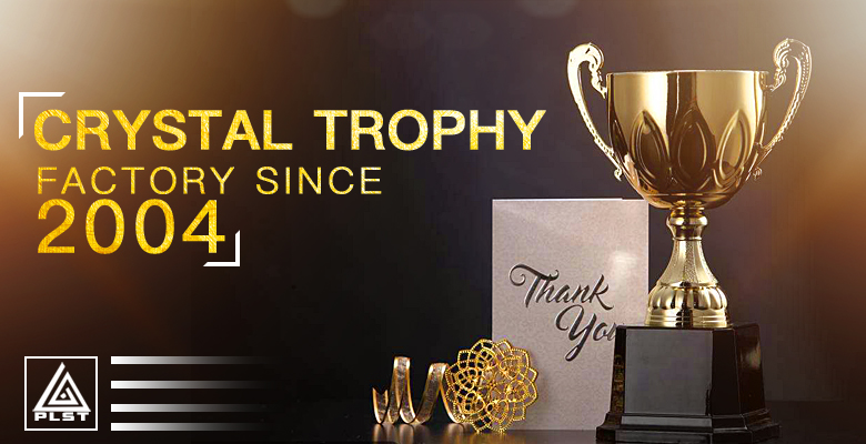 3d laser k9 crystal award crystal cup leaf  glass trophies
