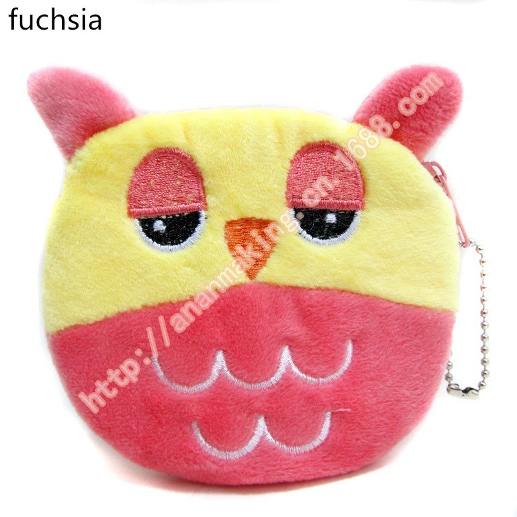 12PCS baby shower favor return gift owl coin bag for girl boy happy  birthday party supply