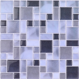 irregular square mosaic peel and stick wall tile