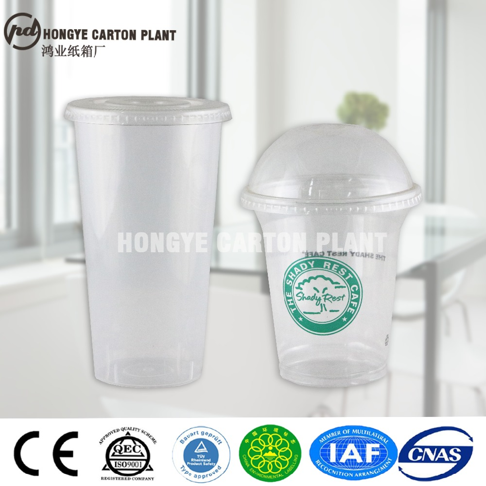 beverage use PP/PET disposable plastic cup with lid