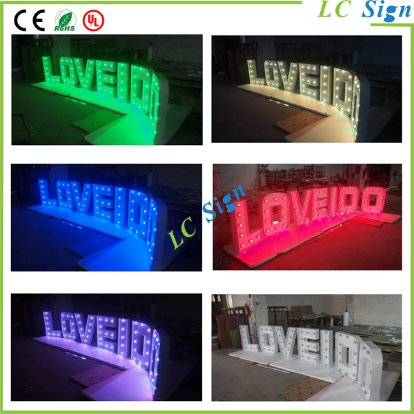 Love letter marquee light buy marquee lightingled for 24 inch channel letters