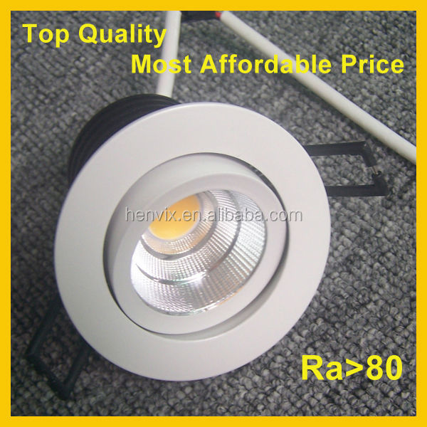 high lumen cob 7w legrand led downlight