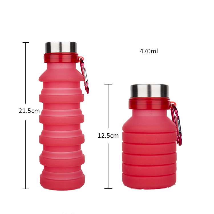 leak proof silicone collapsible <strong>sports</strong> bpa free folding water bottle