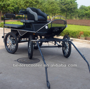 Athletic black marathon carriage horse /horse cart/horse wagon