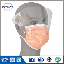 non woven 4 ply medical face mask with eye shield