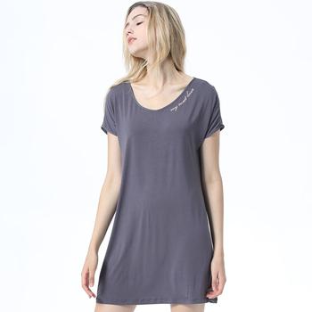 Hot Wholesale Gray Custom Printing Short Sleeve Pajamas Sleep Night Shirts  Women Shirt - Buy Chevron Print Woman Shirts,Short Sleeve Cotton Sleep