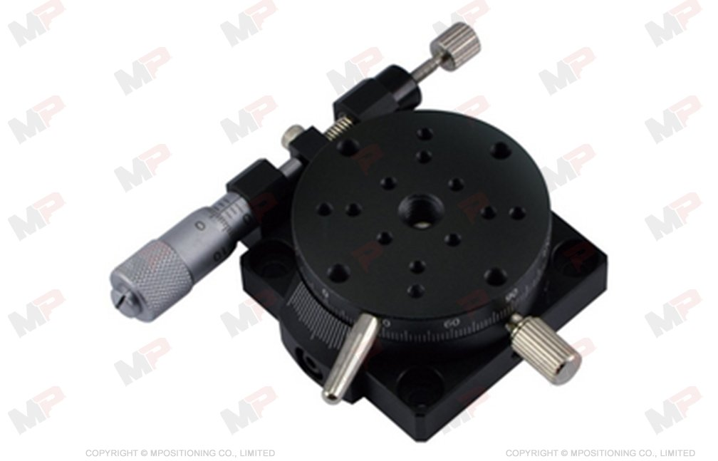 MPositioning R40B-L Precision Miniature Manual Rotation Stage 38 mm in Diameter Rotary Table