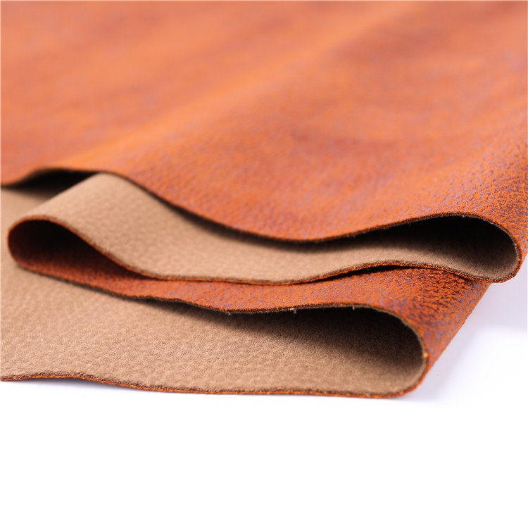 Furniture fabric customized genuine indian chinese faux for What is faux leather to real leather