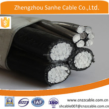 4Core Aluminum conductor service drop ABC cable for overhead Bay 3x6AWG+30.58
